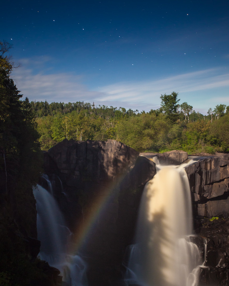 "MOONLIGHT 9499<br /> <br /> ""High Falls, the Big Dipper AND a moonbow!""<br /> <br /> Grand Portage State Park, MN"