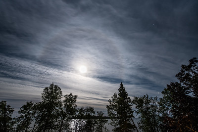 """September Moon over Grand Portage Bay"""