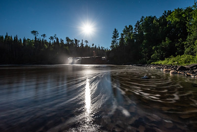 """Moonlight and Foam Trails at Middle Falls"""