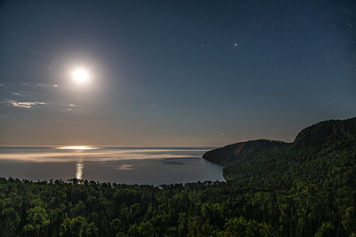 """July Moon over Lake Superior"""