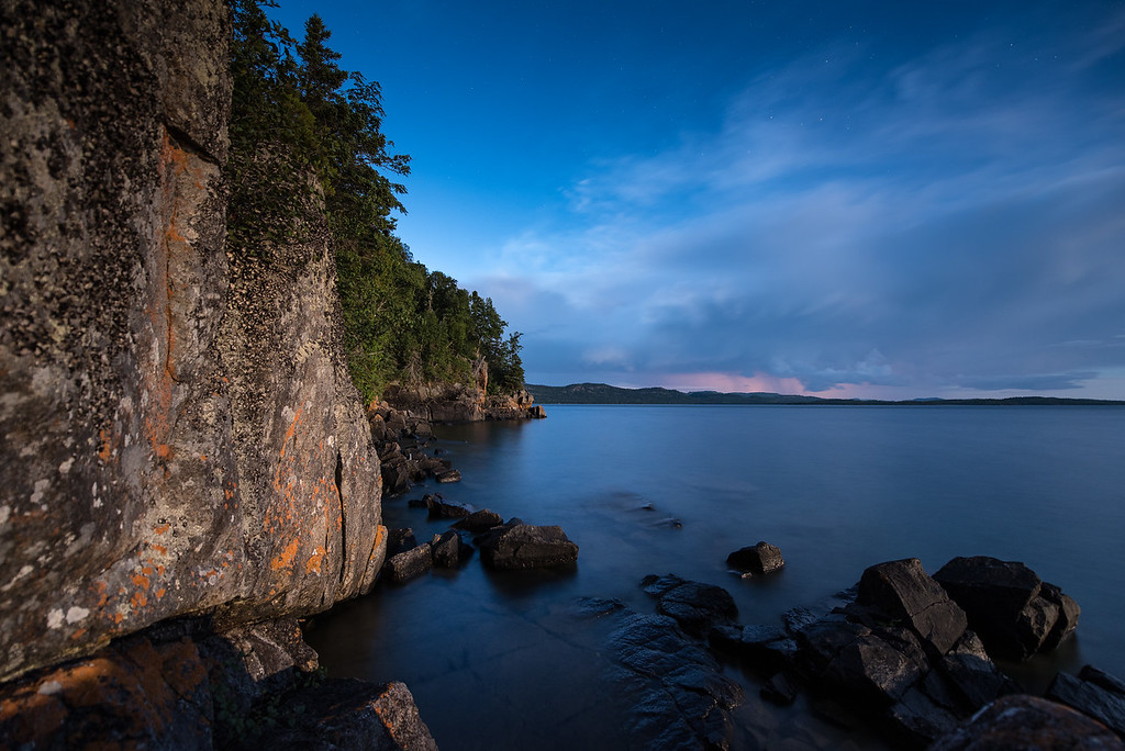 "MOONLIGHT 7753<br /> <br /> ""The Blue Moon shines on Wauswaugoning Bay""<br /> <br /> Grand Portage, MN"