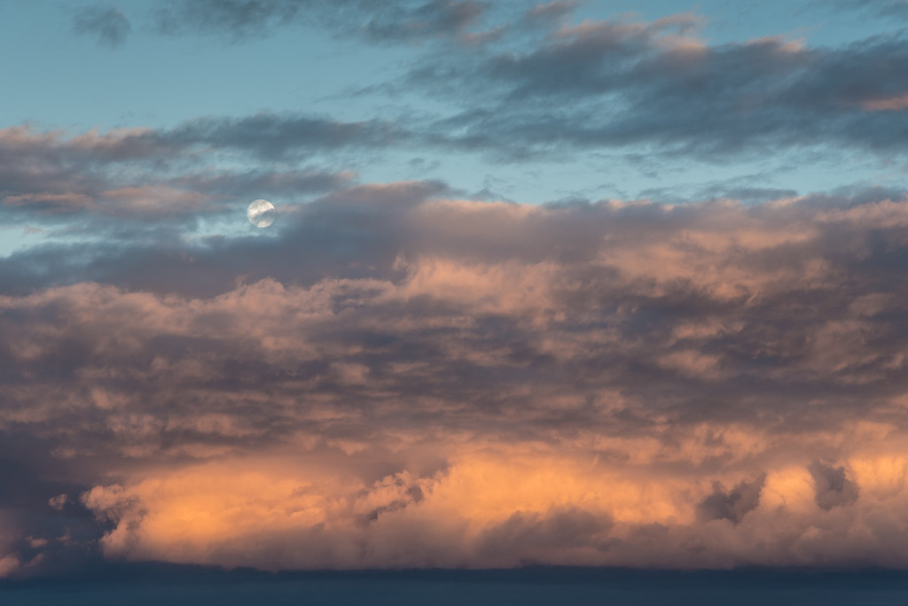 """MOONLIGHT 7553<br /> <br /> """"Rising Moon and Clearing Storm""""<br /> <br /> Grand Portage, MN"""