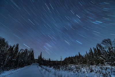 "STAR TRAILS 1960  ""Old Highway Star Trails""  A 30 minute exposure of the night sky made on December 23, 2016.  Old Highway 61 - Grand Portage, MN"