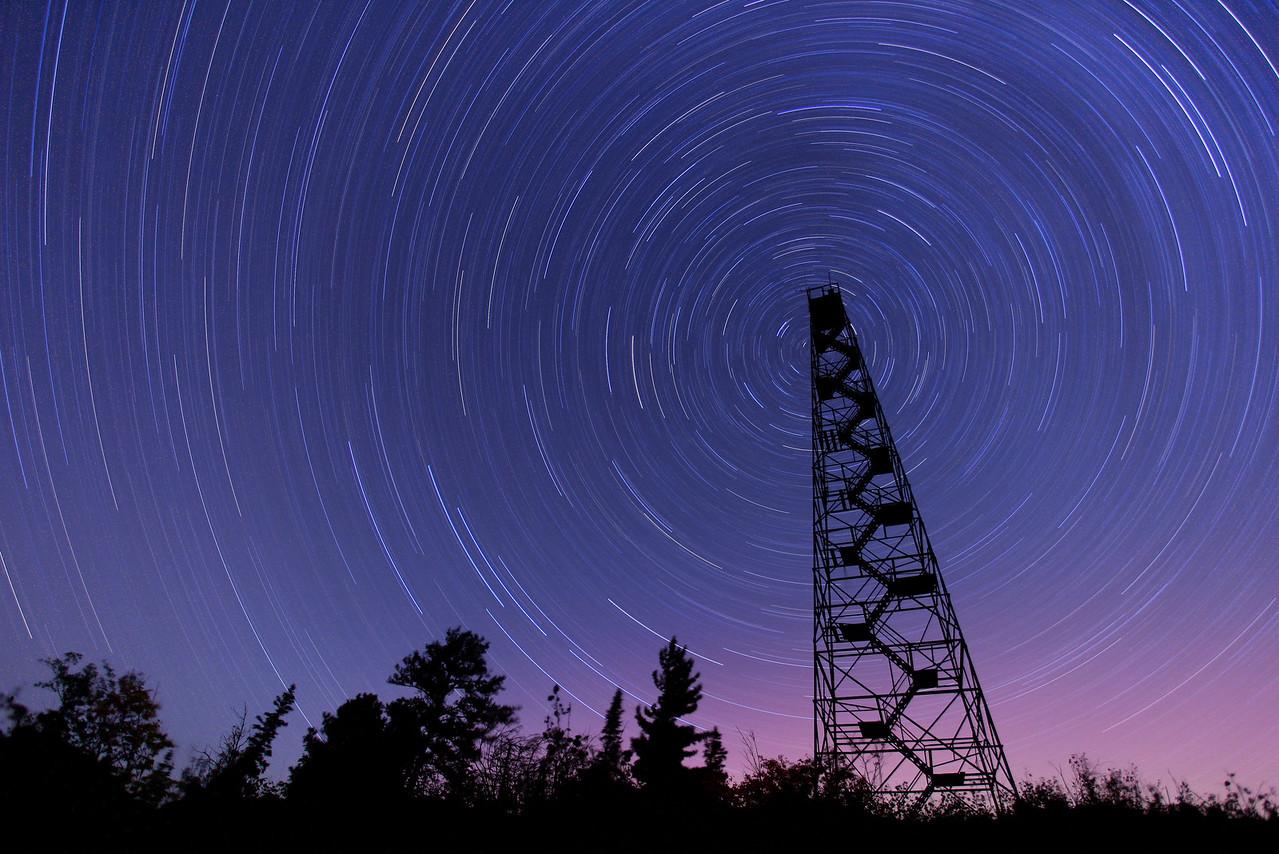 "STAR TRAILS 1973<br /> <br /> ""Passing Time on Mt. Maude""<br /> <br /> 96 minute exposure taken on September 3, 2011."