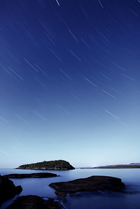 "STAR TRAILS 0069  ""Susie Island Star Trails"""