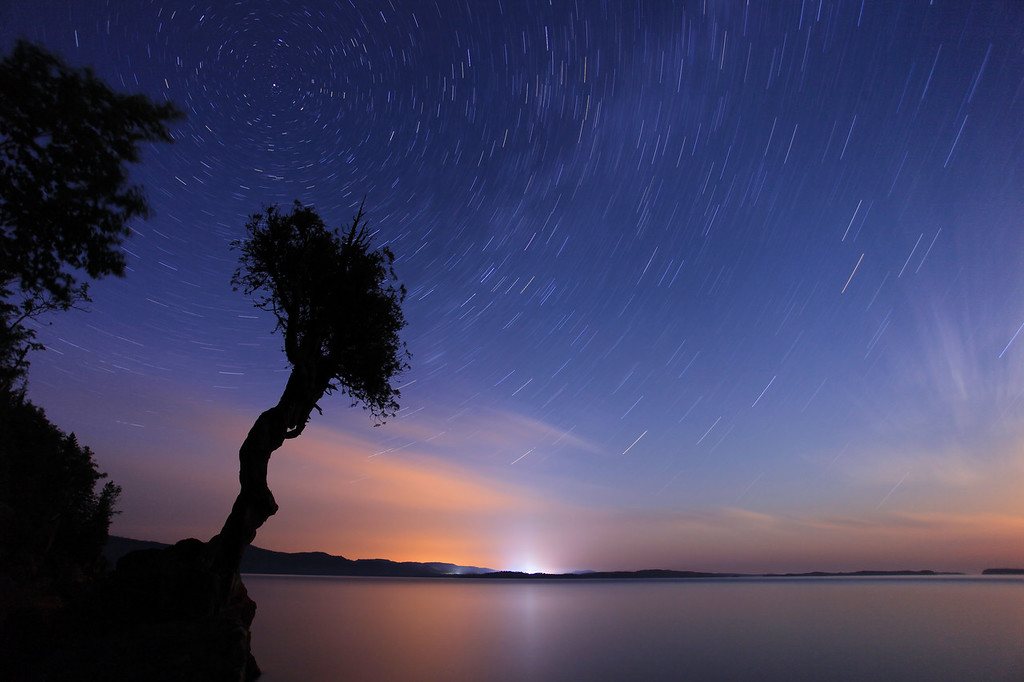 """STAR TRAILS 0780<br /> <br /> """"Earth's silent spin"""""""
