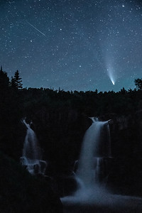 """High Falls and Comet NEOWISE"""