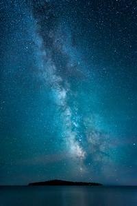 """MILKY WAY 8722  """"Milky Way over Pete's Island"""""""