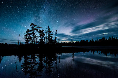 "MILKY WAY 9789  ""Nocturnal Northwoods Paradise""  Esther Lake - Grand Portage State Forest, MN"