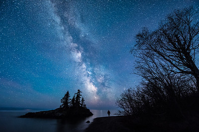 """MILKY WAY 2765  """"Secrets in the Stars""""  Lakewalk section of the Superior Hiking Trail just north of Grand Marais, MN."""