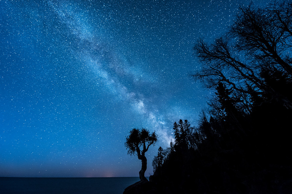 """MILKY WAY 4318<br /> <br /> """"Earth and Sky - The Meeting of the Ancients""""<br /> <br /> Grand Portage, MN"""