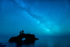 """MILKY WAY 5513<br /> <br /> """"Island Universe""""<br /> <br /> The Milky Way over Hollow Rock on Lake Superior in Grand Portage, MN."""