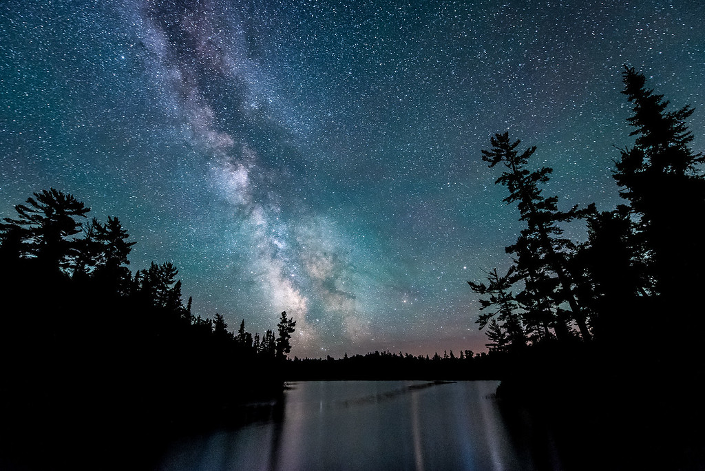 """MILKY WAY 6015<br /> <br /> """"Esther Lake Milky Way""""<br /> <br /> Grand Portage State Forest, MN"""