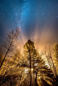"MILKY WAY 4122  ""Foggy Night under the Milky Way"""