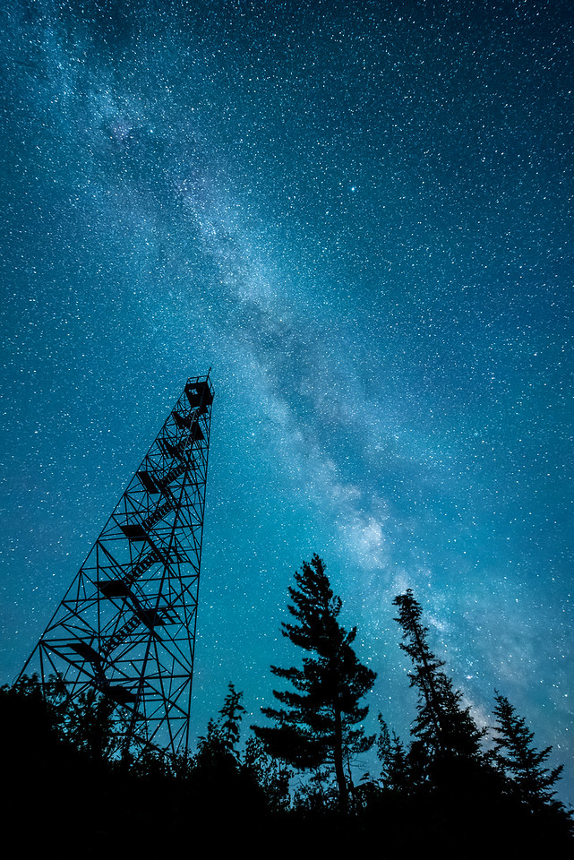 "MILKY WAY 5721<br /> <br /> ""Mt. Maude Tower and the Milky Way"""