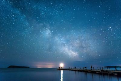 "MILKY WAY 4452  ""See the Milky Way at Grand Portage National Monument!""  Monument Dock on Grand Portage Bay - Grand Portage National Monument, MN"