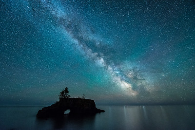 "MILKY WAY 2727  ""Hollow Rock and the Milky Way""  Grand Portage, MN"