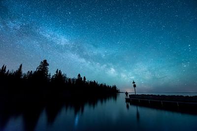 "MILKY WAY 5074  ""The Supernal Dream""  The Milky Way Galaxy over Horseshoe Bay - Hovland, MN"