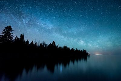"""MILKY WAY 5064  """"The Milky Way Galaxy over Horseshoe Bay""""  Hovland, MN"""