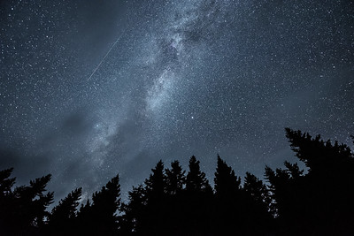 """Milky Way and Perseid Meteor"""