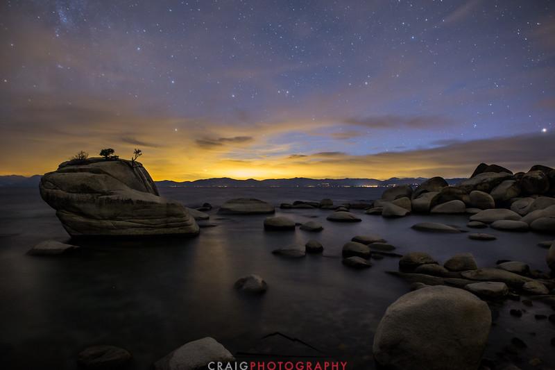 Milky Way over Bonsai Rock Lake Tahoe California 1