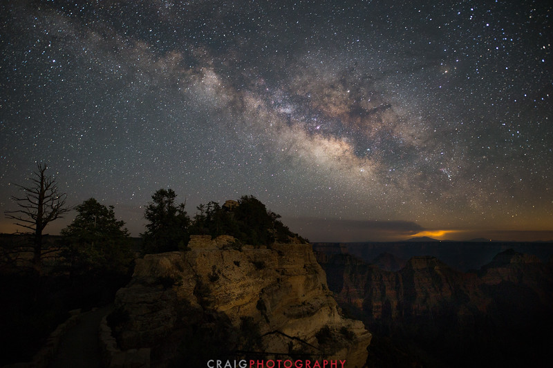 Bright Angel Point of the Grand Canyon with Milky Way 1