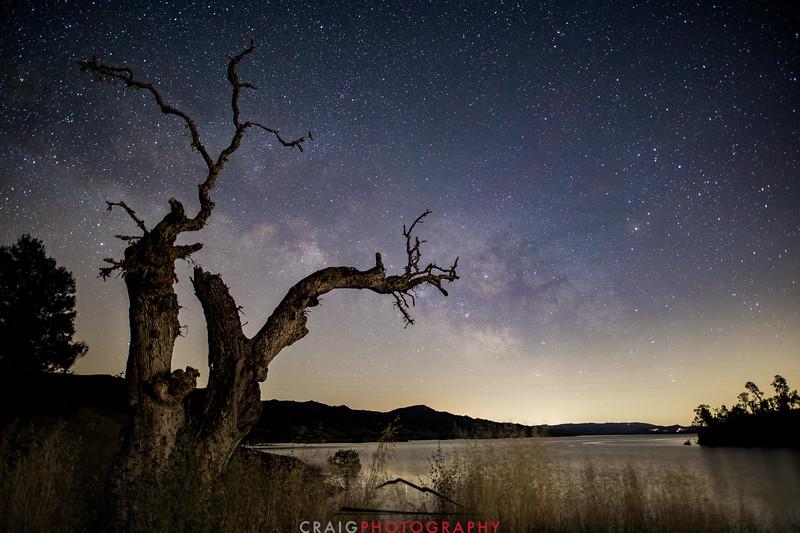 Milky Way over Lake Berryessa California #4