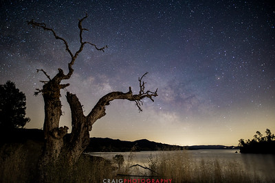 Milky Way over Lake Berryessa California #4