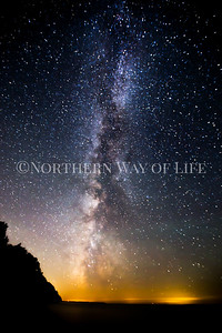 Milky Way over Lake Michigan: Northport, Michigan