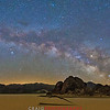 Milky Way over Death Valley Pano