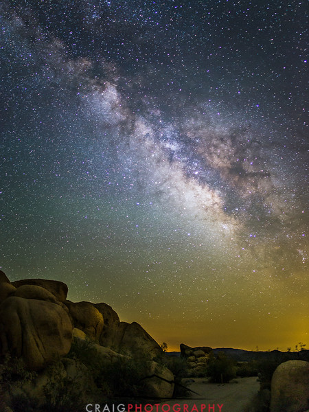 Milky Way over Joshua Tree California 2