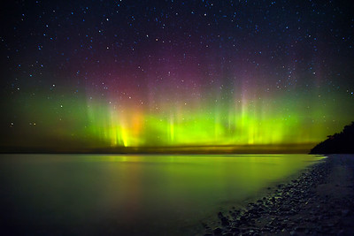 Northern Lights/Aurora Borealis: Northport, Michigan
