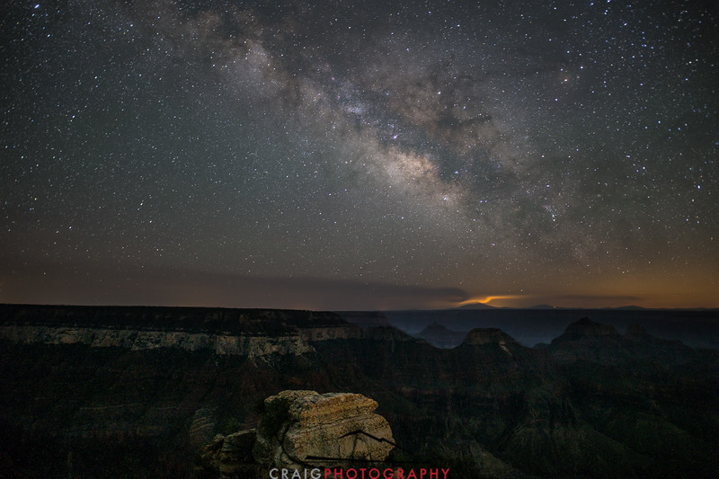 Bright Angel Point of the Grand Canyon with Milky Way 2