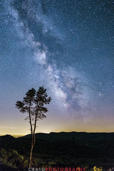Milky Way over Lake Berryessa California #2