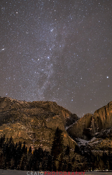 Andromeda over Yosemite