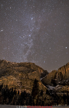 Andromeda over Yosemite