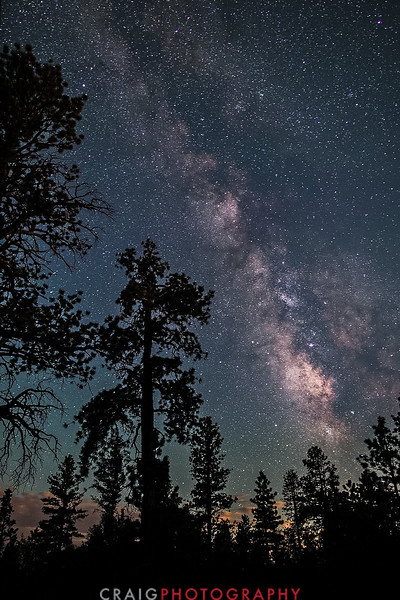 Milky Way Sierra Nevada Mountains California