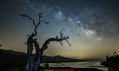 Milky Way over Lake Berryessa California #1