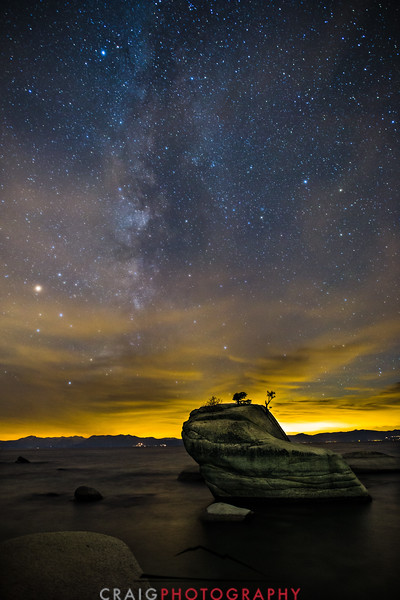 Milky Way over Bonsai Rock Lake Tahoe California 2