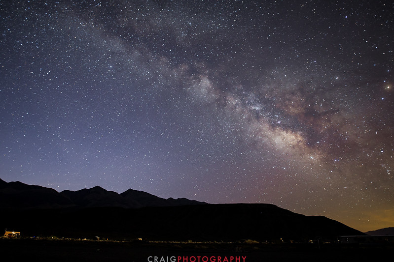 Milky Way over Panamint Valley California