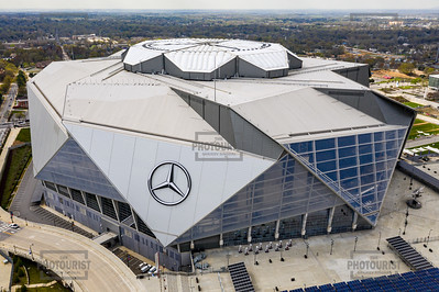 Mercedes Benz Stadium Aerial View - Atlanta GA
