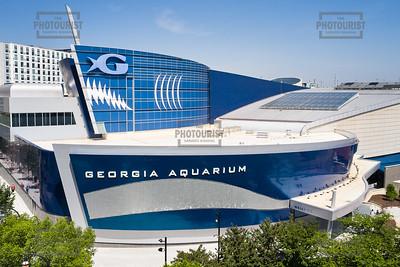 Georgia Aquarium Aerial View - Atlanta GA