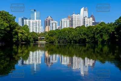 Lake Clara Meer and Midtown Skyline - Atlanta GA