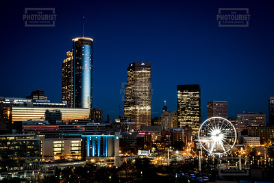 Atlanta GA Skyline at Night