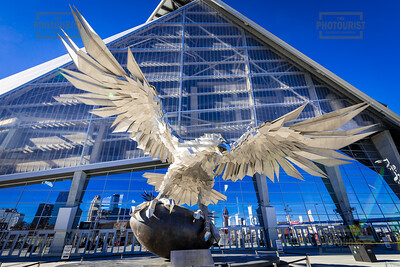 Falcon Statue at Mercedes Benz Stadium Atlanta