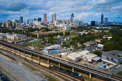 Atlanta GA Skyline Aerial View