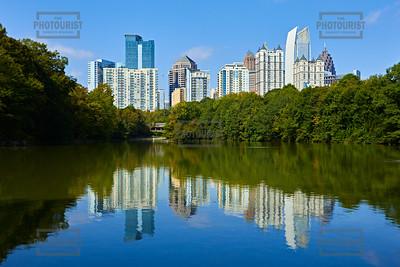 Midtown Skyline from Piedmont Park - Atlanta GA