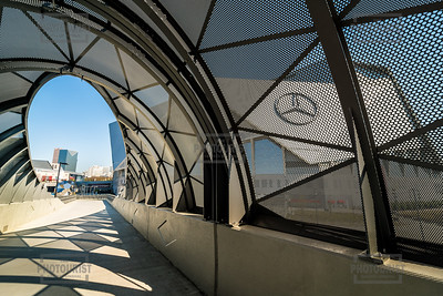 Pedestrian Bridge at Mercedes Benz Stadium Atlanta