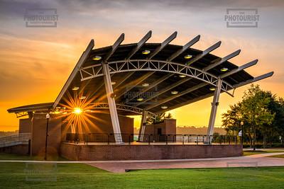 Sunrise at Lady Antebellum Pavilion in Columbia County - Evans GA