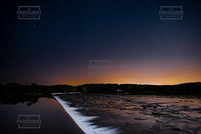 Savannah River Rapids at Night in Columbia County - Augusta GA